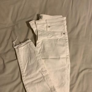 Abercrombie & Fitch White High-rise Jeans